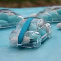 Boite à dragées voiture plexi transparent