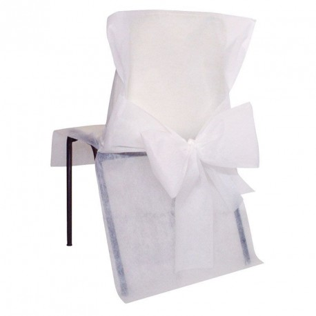 10 Housses de chaise avec noeud