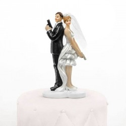 Figurine de mariage agent secret