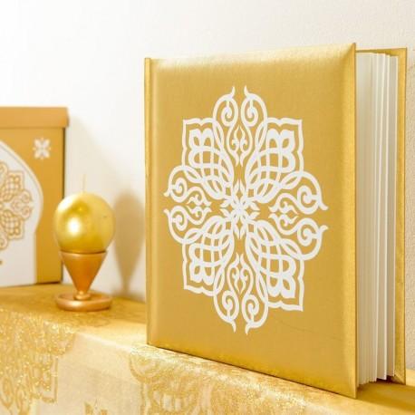 Livre d'or thème mariage oriental or