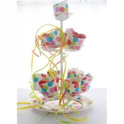 Support à Dragées Cupcake blanc laqué