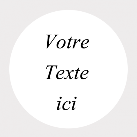 Etiquette ronde transparente autocollante