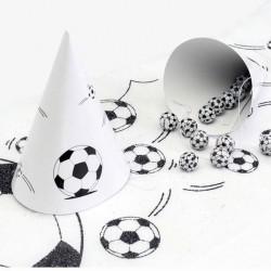 6 Chapeaux football noir et blanc