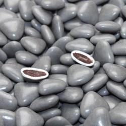 Dragées coeur chocolat gris