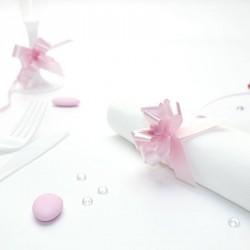 20 mini noeuds à tirer rose