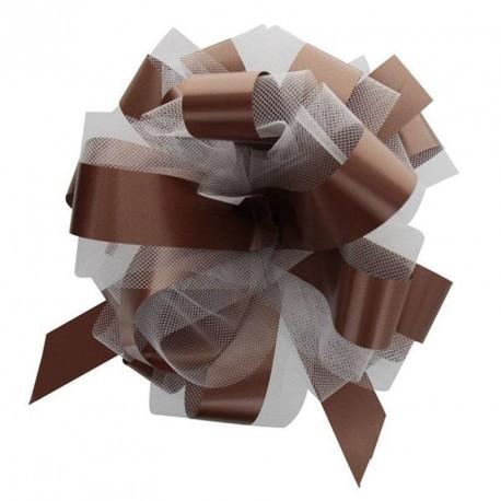 2 noeuds à tirer tulles chocolat