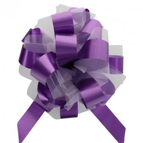2 noeuds à tirer tulles violet