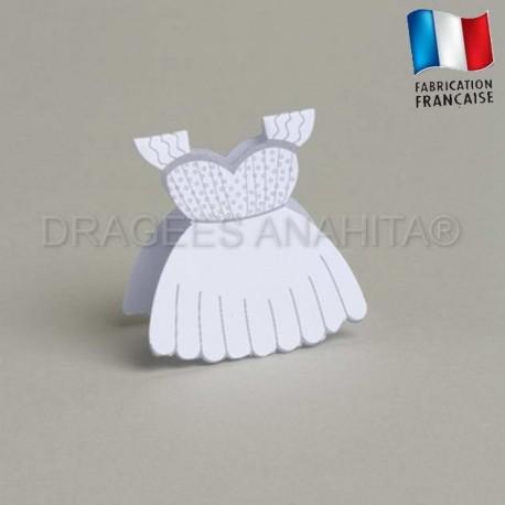 Etiquette à dragées robe de mariée