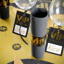 6 Ronds de serviette thème VIP