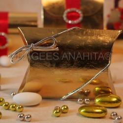 Pochette à dragées or