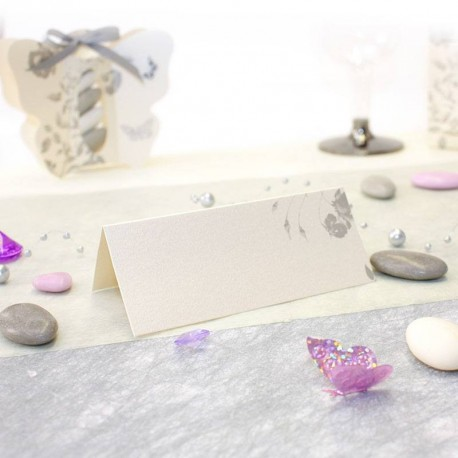 Marque place thème papillon gris