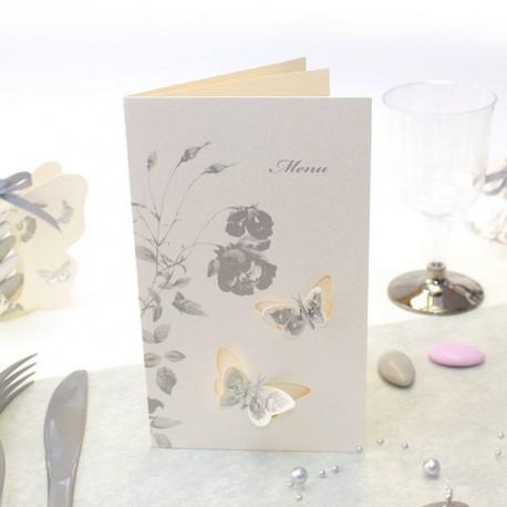 24 4 cm Petit Transparent Paillettes ORGANZA PAPILLONS PAPILLON Fleuriste Fil Gâteaux