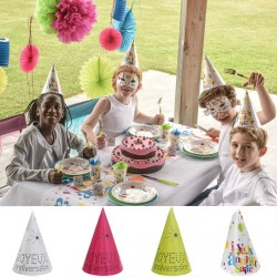 10 chapeaux cônes joyeux anniversaire