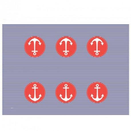 Nappe plastique de table thème marin
