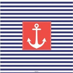 20 serviettes de table thème marin