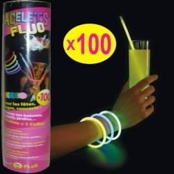 100 bracelets fluos