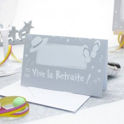 Carte d'invitation vive la retraite