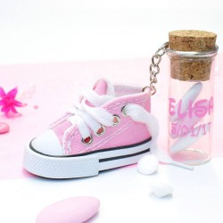 2 Baskets à dragées rose porte clés