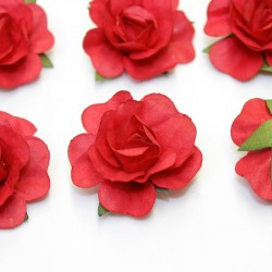 12 Roses autocollantes rouge