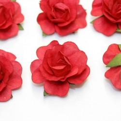 12 Roses autocollantes rouge