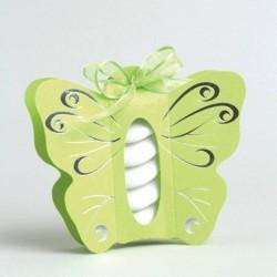 Boite à dragées papillon vert