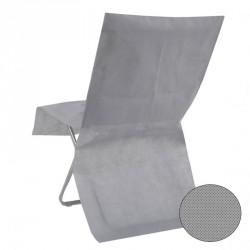 10 Housses de chaise grise jetable