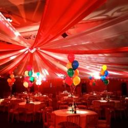 Grande Tenture rouge 50 m x 80 cm