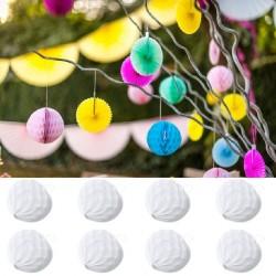 8 Boules Alvéolés 10 cm Blanches