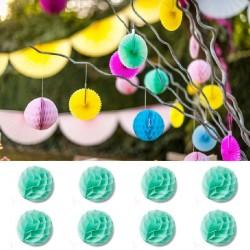 8 Boules Alvéoles 10 cm Menthe