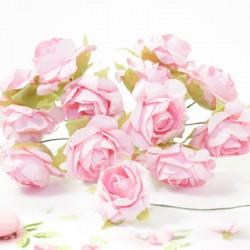 12 Roses sur tige rose