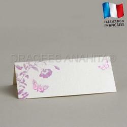 Marque place thème papillon violet