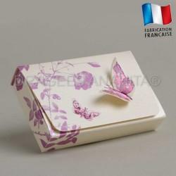 Emballage à dragées theme papillon violet