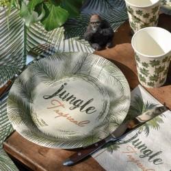 10 Assiettes thème Jungle. Résistantes, pratiques et décoratives