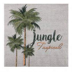 20 Serviettes thème Jungle, en papier 3 plis très résistant