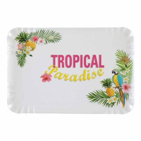 5 Plateaux thème tropical, très pratiques pour les services