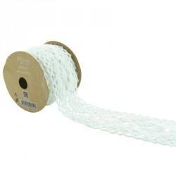 Ruban dentelle blanche 5cm pour créer une décoration unique.