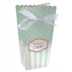 """6 contenants à dragées """"monsieur Chou"""" parfaits pour un partage de douceurs."""