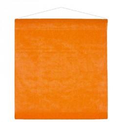 Tenture orange pour une décoration de salle colorée