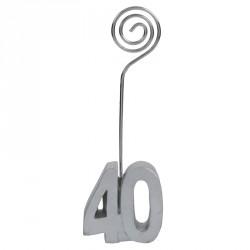 2 Marque-place Anniversaire 40 ans pour personnaliser votre décoration.