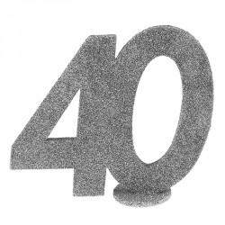 Chiffre Anniversaire 40 ans pour ajouter une touche chic et sobre à la décoration de votre salle.