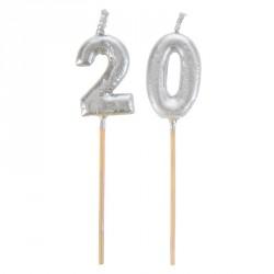 Bougies  Joyeux Anniversaire 20 ans pour apporter un côté festif à votre événement.