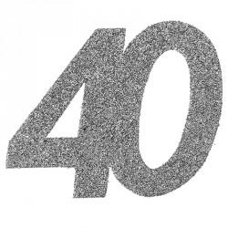 Confetti pailleté Anniversaire 40 ans pour une décoration étincelante.