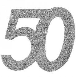 Confetti pailleté Anniversaire 50 ans pour une décoration parfaite et réussie de vos tables de réception.