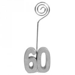 2 Marque-place Anniversaire 60 ans pour personnaliser la décoration de vos tables.