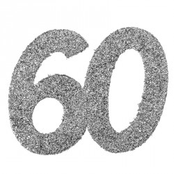 Confetti pailleté Anniversaire 60 ans pour une décoration de table originale et joyeuse.