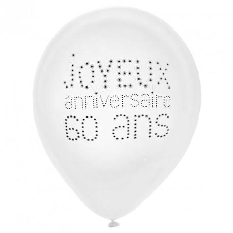 8 Ballons Anniversaire 60 Ans