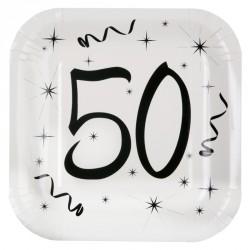 10 Assiettes Anniversaire 50 ans élégantes et très pratiques.