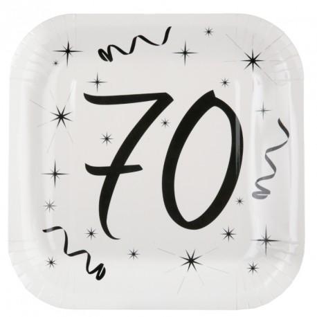 10 Assiettes Anniversaire 70 ans pour servir avec élégance vos mets d'anniversaire.