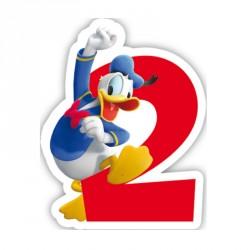 Bougie Mickey Chiffre 2 pour bien marquer le second anniversaire de votre enfant.