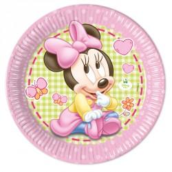8 Assiettes Baby Minnie 23cm d'une qualité irréprochable.